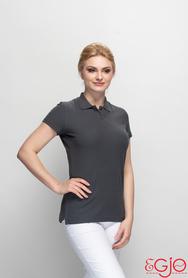 Koszulka polo damska 016 szara Egjo