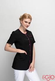 Bluza damska 018 fryzjerska czarna Egjo