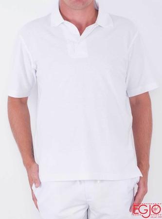 Koszulka polo męska 001 biała Egjo